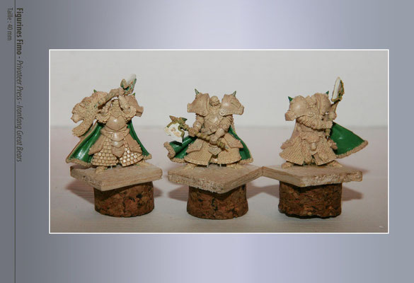 FIMO sculpture for Privateer Press - Iron fang great bears