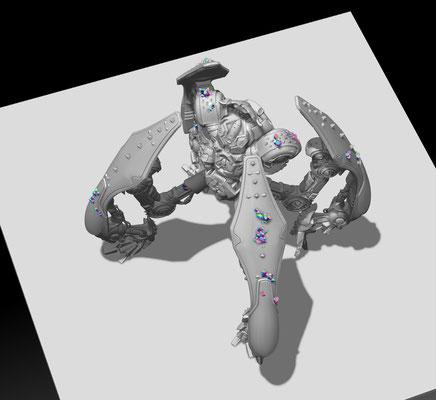3D modelling- DARK AGE -The Thumper