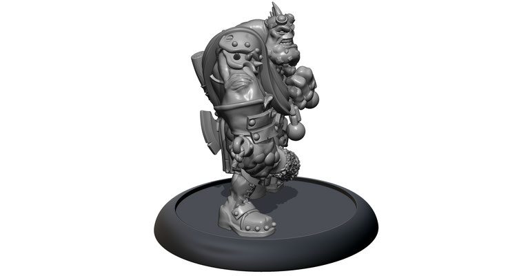 3D modelling-Troll Cannon Unit-PRIVATEER PRESS