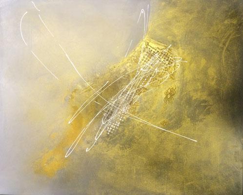 Goldschatten   ...   Acryl auf Leinwand   ...   100 x 80 cm