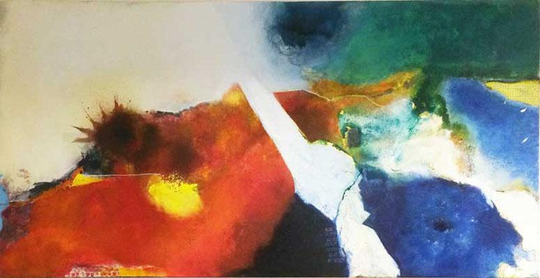 Farbenspiel   ...   Acryl auf Leinwand   ...   200 x 100 cm