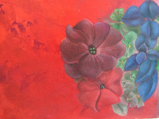 Inspired by Georgia   ...   Acryl, Pastell auf Leinwand   ...   40 x 30 cm