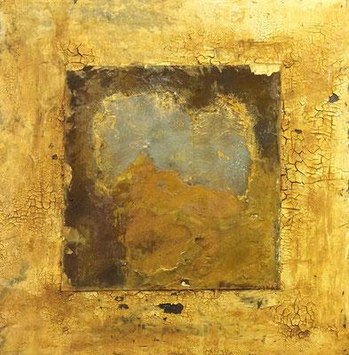 Variation in Rost   ...   Acryl auf Leinwand   ...   50 x 50 cm