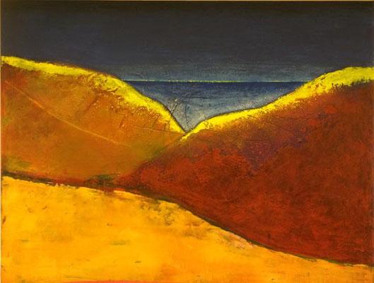 Von den roten Bergen ...   Acryl auf Leinwand   ...   100 x 120 cm