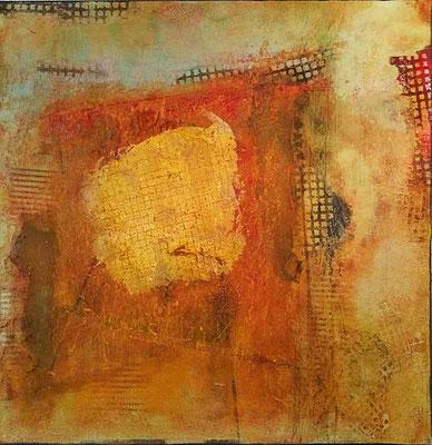 Struktur in Öl    ...   Acryl und Öl auf Leinwand   ...   80 x 80 cm