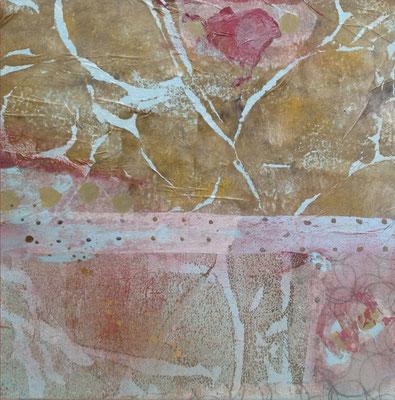 Collage   ...   Acryl auf Holz   ...   30 x 30 cm