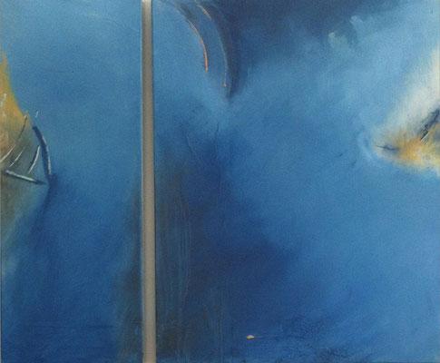 Dyptichon in blau   ...   Acryl auf Leinwand   ...   120 x 100 cm