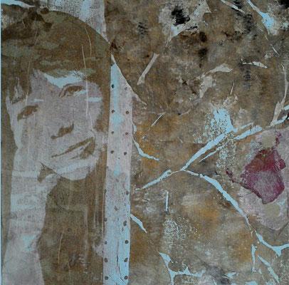 Portrait-Collage   ...   Acryl auf Holz   ...   30 x 30 cm