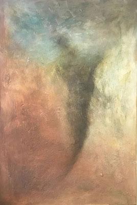 Die Schlucht ... Acryl und Steinmehle auf Leinwand   ...   150 x 100 cm
