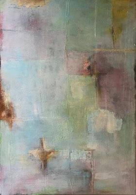 Sandstruktur II  ...   Acryl, Tusche und Öl   ...   100 x 140 cm