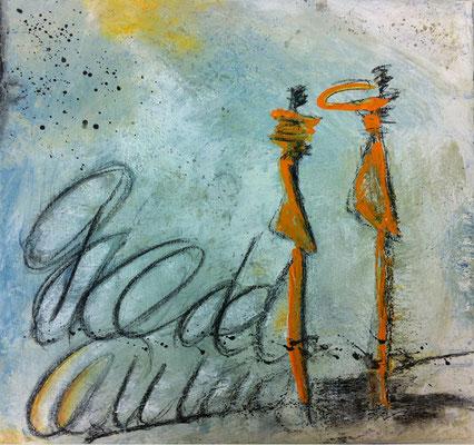 Seelenschwestern   ...   Acryl auf Leinwand   ...   50 x 50 cm