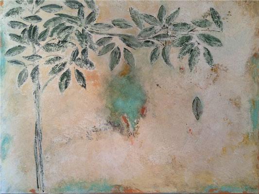 Olive   ...    Acryl auf Leinwand ... 100 x 80 cm