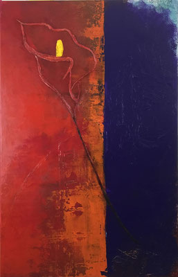 Cala in Rot   ...   Acryl auf Leinwand   ....   100 x 160 cm