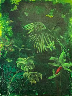 Dschungel   ...   Acryl auf Leinwand   ...   80 x 100 cm