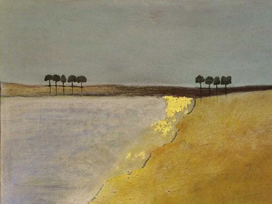 Meerlandschaft   ...   Acryl auf Leinwand   ...   100 x 80 cm