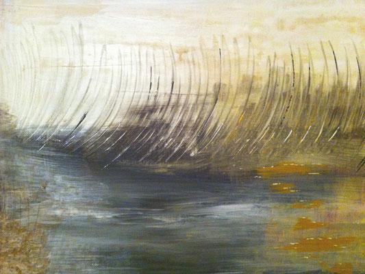 Schilflandschaft   ...   Acryl auf Leinwand mit Rahmen   ...   80 x 60 cm