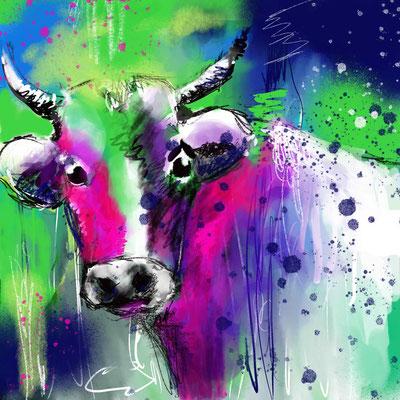 Berta, die Kuh   ...   digitales Motiv   ...   druckbar bis 30 x 30 cm auf verschiedenen Materialien