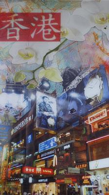 Hongkong   ...   digitale Fotocollage ...   Druck hinter Acrylglas  ...   50 x 100 cm