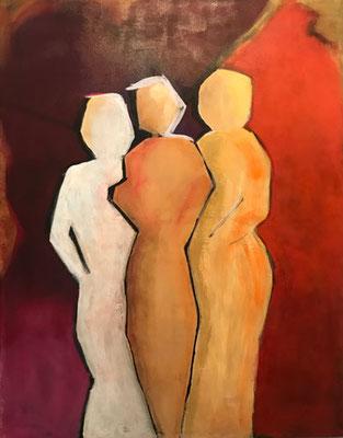 Freundschaft   ...   Acryl auf Leinwand  ...   88 x 110 cm