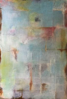 Sandstruktur I  ...   Acryl, Tusche und Öl   ...   100 x 140 cm