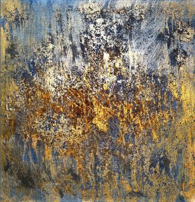 Kaffee-Gold   ...   Acryl auf Leinwand   ...   30 x 30 cm