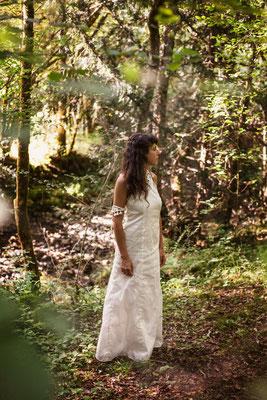 Robe de mariée Capucine Panfiloff  Bijoux Nadège Barthe