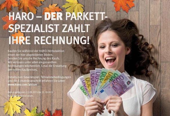 HARO Herbstaktion 2015 - Parkett, Laminat, Celenio und Disano
