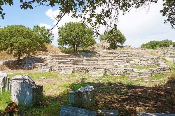 Troja, oder was nach davon übrig ist. Agamemnon hat scheinbar gute Arbeit geleistet beim Zerstören der Stadt :-)...