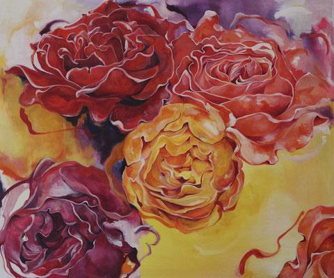 Bild Nr. 1 - Rosen-Leinwand,Acryl-2015-100cmx120cm