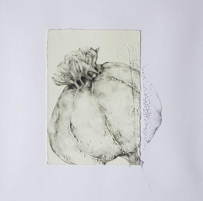 Nah-Bleistift,Prägung perforiert-2016-30x30cm
