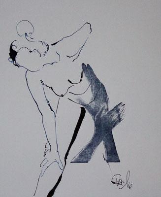 Berührt-Tusche auf Druck-2016-20cmx20cm