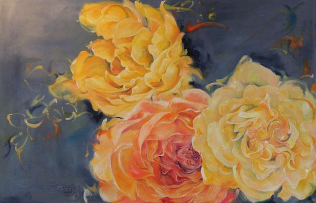 Bild Nr. 3 - Rosen-Leinwand,Acryl-2013-90cmx140cm