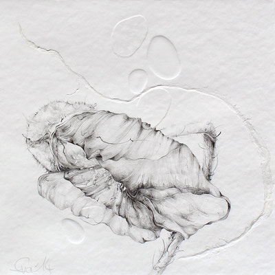 Entfalten-Blindprägedruck,Graphit-2014-20cmx20cm