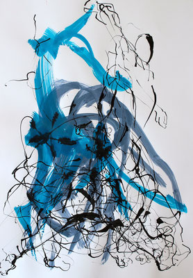 Tanz laut - AIM-Tusche,Acryl-2015-62cmx43cm