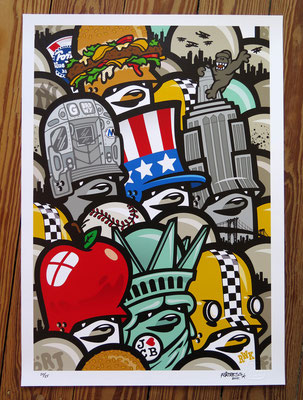 """New York City Formation"" / Limited Print @ http://www.thezonders.com/shop/art.html"