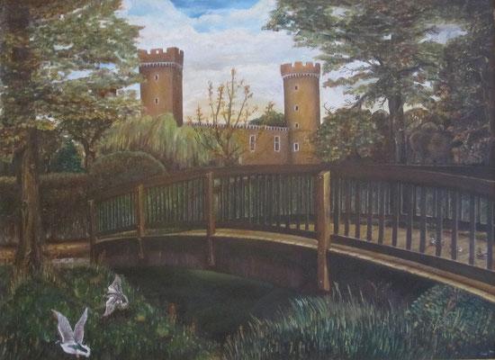 Norbert Göckler / 3 Motive, die ich immer male, in verschiedenen Richtungen oder Jahreszeiten, bevorzugt sind Rathaus, Burg, Herriger Tor und Flutsch.