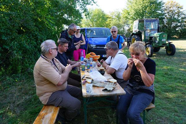 Bei Tisch! (Foto: A. Wattenbach)