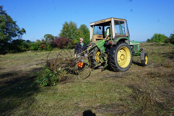Die alte Technik läuft sich warm (Foto: A. Wattenbach)
