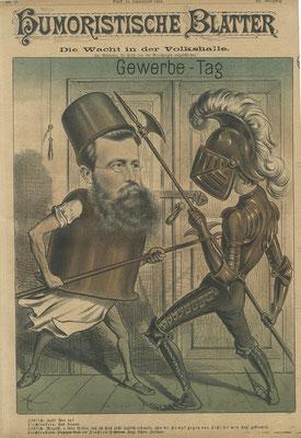 Franz Löblich in der politischen Karikatur