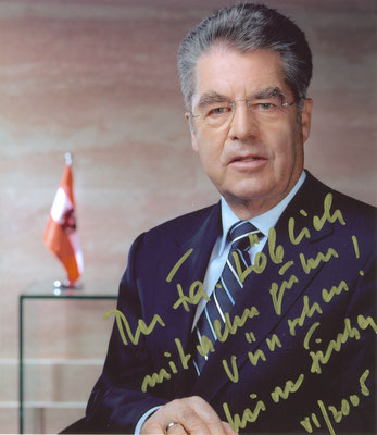 Bundespräsident Heiz Fischer