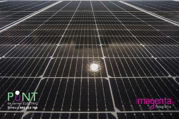 Plaques solars, punt de servei Sineu