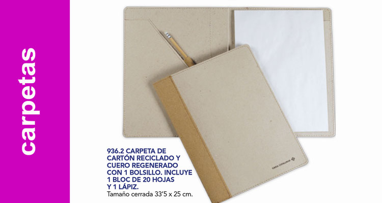 Carpetas cartón reciclado y polipropileno