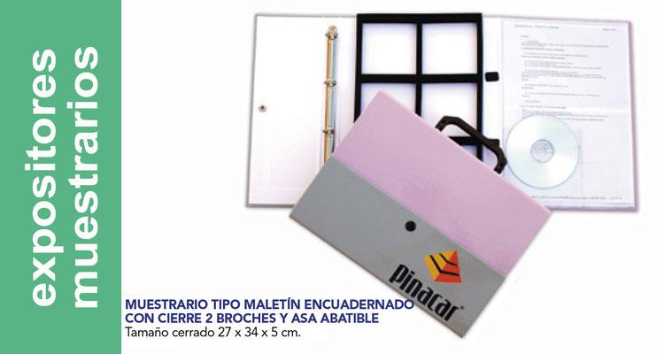 Expositores, muestrarios, calendarios pvc.