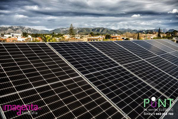 Energía solar, Punt de servei Sineu