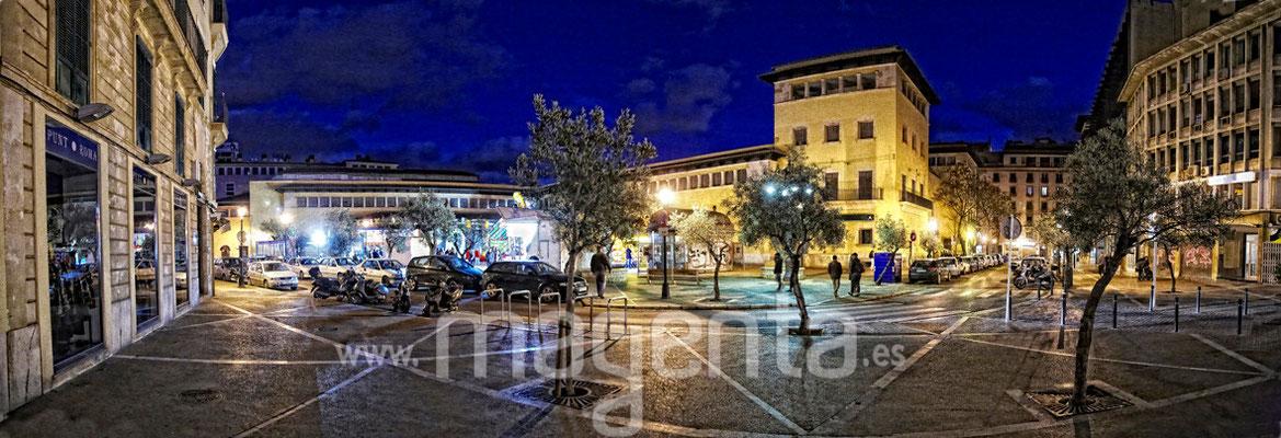 Plaza Mayor Palma,fotografía panorámica mallorca, foto 180º,fotógrafo profesional mallorca,