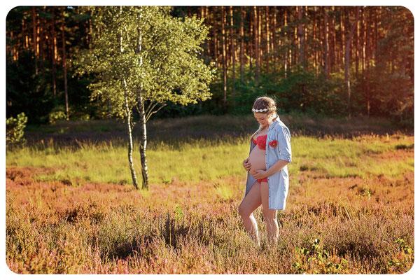 Schwangere in der Gifhorner Heide, Fotograf Braunschweig