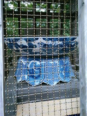 陶山神社磁器製手水鉢の写真