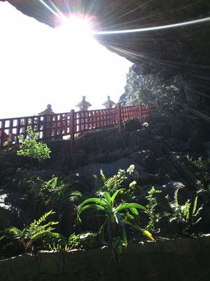 鵜戸神宮の洞窟から外を撮影した写真