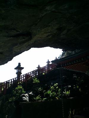 鵜戸神宮の洞窟内から撮影した写真