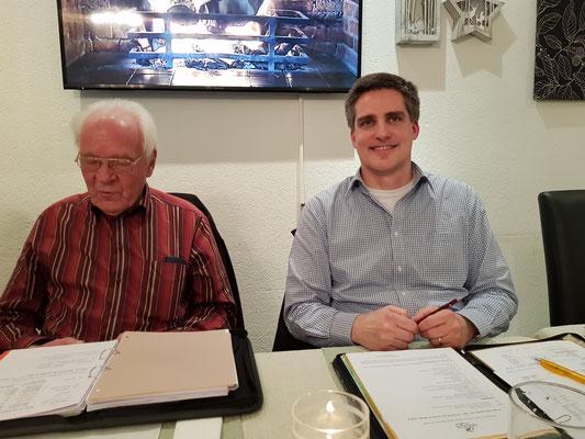 alter und neuer Präsident (Heinz Byland links und Marc Studerus rechts)